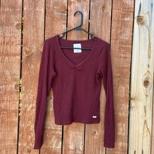 Gilly Hicks Maroon Long Sleeve